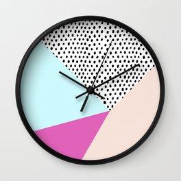 Polka dot rain geometric Wall Clock