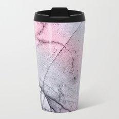 Urban Pink and Grey Marble Metal Travel Mug