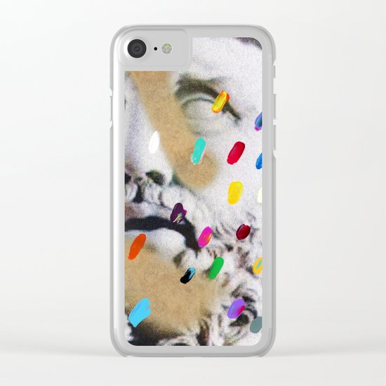 Composition 553 Clear iPhone Case