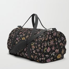 Botanical Study- Dark Colorway Duffle Bag
