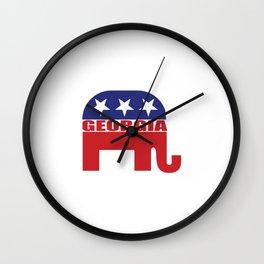 Georgia Republican Elephant Wall Clock