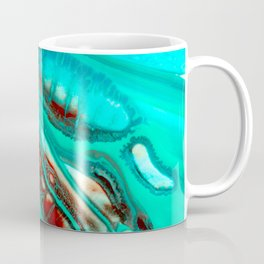 Turquoise abstract Coffee Mug