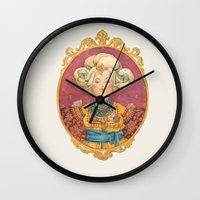 queen Wall Clocks featuring Queen by Kasheva