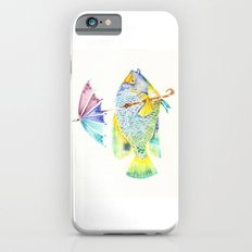 Fishy Fish - Original Watercolor of Yellow Mask Angel Fish with Umbrella Slim Case iPhone 6s