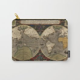 1595 Vera Totius Expeditionis Nauticae - Map of Sir Francis Drake's Circumnavigation of the Globe Carry-All Pouch