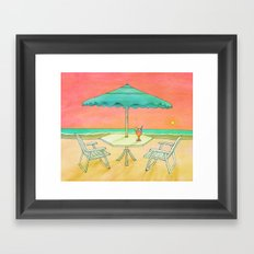 Beach Drink Framed Art Print