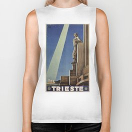 Trieste art deco Italian travel ad Biker Tank