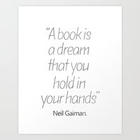 neil gaiman Art Prints featuring Neil Gaiman, quotes, inspirational  by Good vibes and coffee