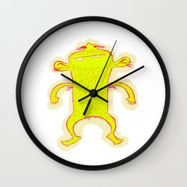 Hairy Monster Wall Clock