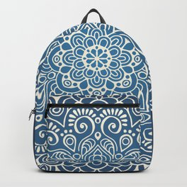 Mandala dark blue Backpack