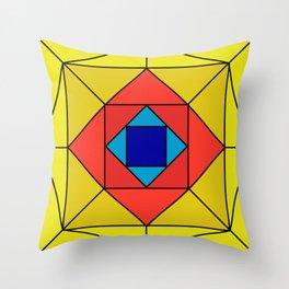 Suspiria Stained Glass Throw Pillow