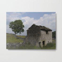 Peak District Barn Metal Print