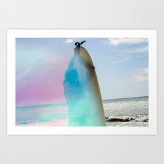 Surf Ditch Plains // Montauk Series by Audrey Amelie Art Print
