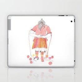 Knitster Girl Sweater & Socks Laptop & iPad Skin