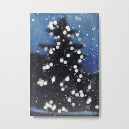 Christmas Tree Lights - Abstract  Metal Print
