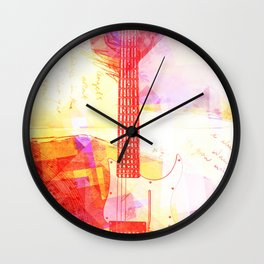 My Music Word Wall Clock