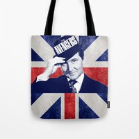 avenger Tote Bags featuring Original Avenger  by Kramcox