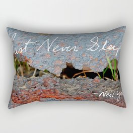 Rust Never Sleeps Rectangular Pillow