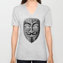 Ornate Anonymous Mask Unisex V-Neck