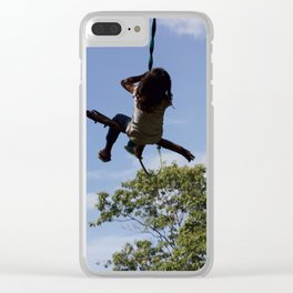 Girl on Swing Clear iPhone Case