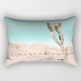 Vintage Desert Scape // Cactus Nature Summer Sun Landscape Photography Rectangular Pillow