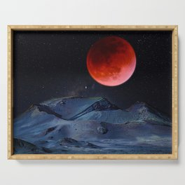 Blood Moon Serving Tray