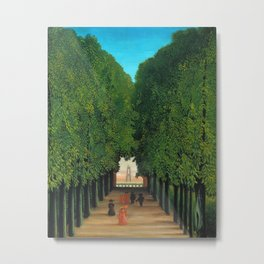 Henri Rousseau - Avenue in the Park at Saint Cloud Metal Print