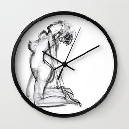 Nude Study 2 Wall Clock