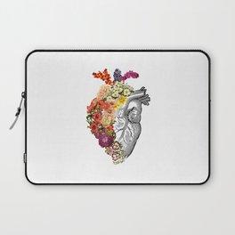 Flower Heart Spring White Laptop Sleeve