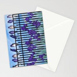 purple martins & purple irises Stationery Cards