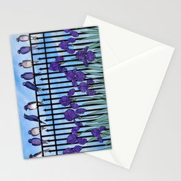 purple martins & purple irises Stationery Cards