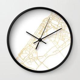 DUBAI UNITED ARAB EMIRATES CITY STREET MAP ART Wall Clock