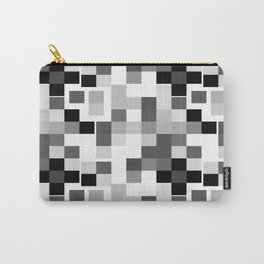 Grayscale Squares Carry-All Pouch