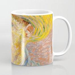 Self-Portrait with a Straw Hat - Vincent Van Gogh Coffee Mug