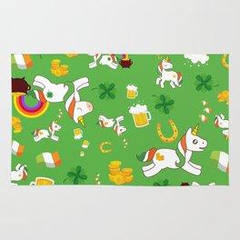 St. Patrick's Day Unicorn Pattern Rug