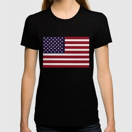 American flag with painterly treatment T-shirt