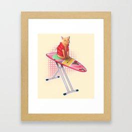 Ironing Cat Framed Art Print