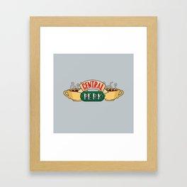 Central Perk Coffee Shop - Friends TV Show Framed Art Print