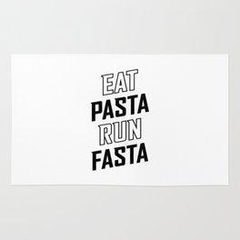 Eat Pasta Run Fasta v2 Rug