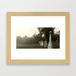 Cemetery Fog Framed Art Print