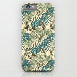 Greenery Palm Leaves Pattern iPhone Case