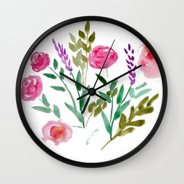 Country Bouquet Wall Clock