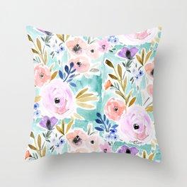 Willow Floral Throw Pillow