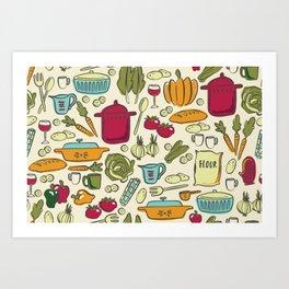 Cookin' Art Print