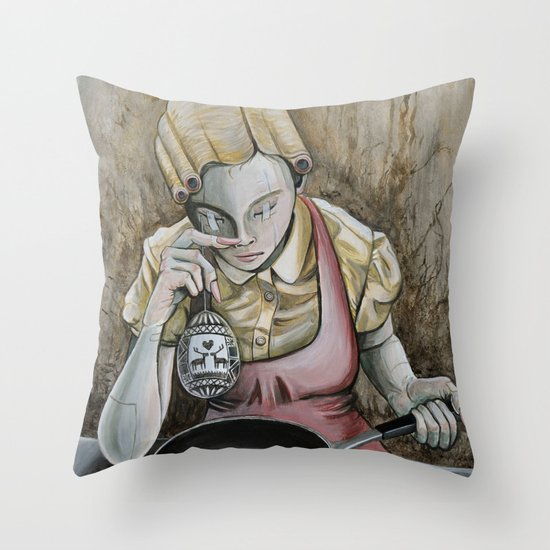 I keep making the same omelette Throw Pillow