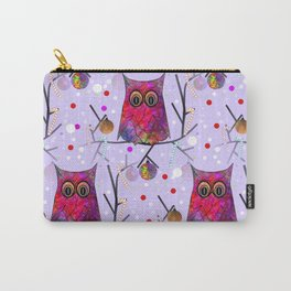 Owl Pattern Carry-All Pouch