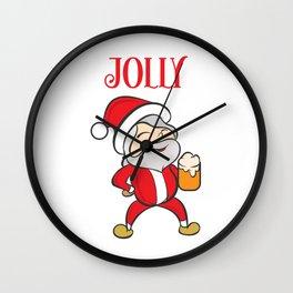 Jolly Santa Claus Wall Clock