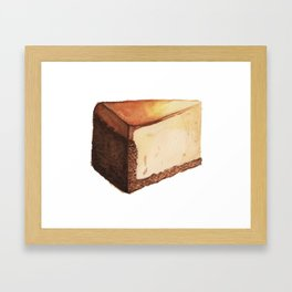 Cheesecake Slice Framed Art Print
