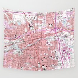 Vintage Map of Reno Nevada (1967) Wall Tapestry