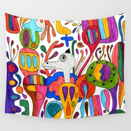 Mr.Master wrapped in colors Wall Tapestry